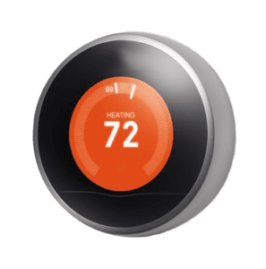 Nest Thermostat display for HVAC, Heating, Air Conditioning